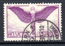 (048)   Switzerland 1923-40 Air 1f. Reddish Lilac & Purple SG327 VF Used Cat £60