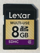 Lexar Multi-Use 8 GB SD Memory Card - SDHC - Used - Tested & Working