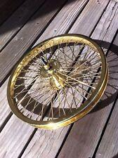 "BICYCLE 16"" FRONT WHEEL GOLD  W/ 52 SPOKES CRUISER LOWRIDER BIKES"
