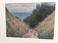 "MONET CLAUDE - ROAD AT LA CAVEE, POURVILLE - ART PRINT POSTER 11"" X 15"" (2899)."