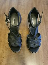 Women's Old Navy brand Black Wedge Sandals Size 6