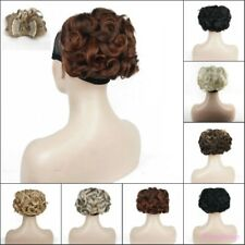 Ponytail Clip-on Short Curly ponytail Extensions hair Hairpiece Hair Clip Buns