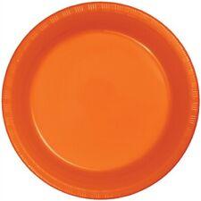 "Orange 9"" Plastic Plates 20 Per Pack Orange Decorations & Party Supplies"