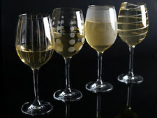 Set of 4 MIKASA Cheers CRYSTAL GLASS White Wine Glasses