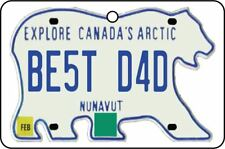 NUNAVUT - BEST DAD LICENSE PLATE CAR AIR FRESHENER (FATHER'S DAY GIFT)