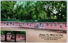 DE SMET, South Dakota SD   Roadside COTTAGE INN MOTEL & Cafe  c1960s  Postcard