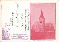 Boer War Klerksdorp Court Size Post Card. Dutch Reformed Church, Klerksdorp.