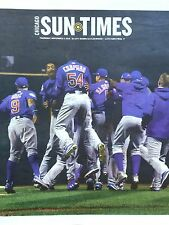 CUBS WORLD SERIES CHICAGO SUN TIMES NEWSPAPER NOV. 3, 2016 UNREAD COMPLETE PAPER