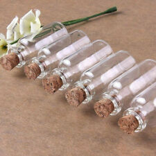 Mini Clear Glass Bottles With Cork Empty Transparent Jars Containers 3 pcs