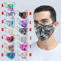 Adult Print Face Mask Mouth Protection Cover Washable Reusable Breathable Masks