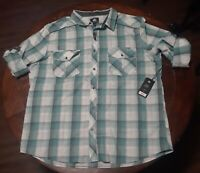 Mens Banana Republic Shirt Medium Button Front Long Sleeve Plaid Zize XXL
