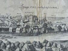 Merian-ORIG. grabado 1654: en subiría/resina Ober resina