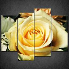 BEAUTIFUL YELLOW ROSE FLOWER CASCADE CANVAS PRINT WALL ART READY HANG