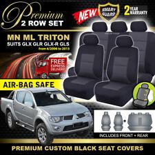 Premium BLACK Seat Covers Mitsubishi Triton MN ML DUAL CAB 6/2006-2015 GLX-R GLR