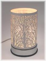 Metal Electric Oil Warmer Tart Burner Wax Cubes Wax Melt Aroma White Woods Tree