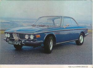 BMW 2800 CS Original colour Postcard UK Issue