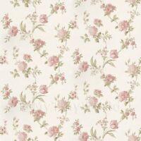 Puppenhaus Miniatur Gemischten Pink Blumen auf Helles Weiß Tapete