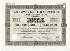 Hannoversche Kaliwerke AG  Oedesse 1928  Hannover