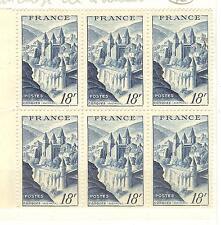 YVERT N° 850 BLOC DE 6 TIMBRES FRANCE NEUFS **abbaye de CONQUES