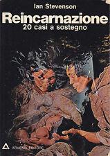 REINCARNAZIONE 20 CASI A SOSTEGNO  Ian Stevenson 1975 Armenia Editore *