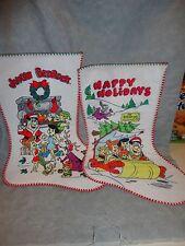 THE FLINTSTONES HAPPY HOLIDAYS CHRISTMAS STOCKING NEW SET OF TWO