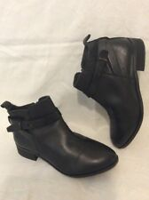 Office Girl Black Ankle Leather Boots Size 37