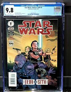 Star Wars Jedi VS Sith 2 CGC 9.8 Dark Horse 2001