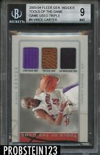2003-04 Vince Carter Genuine Tools of The Game Triple #5/25 BGS 9 MINT