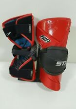 Stx K18 Lacrosse Arm Guards Pads Large Red Black Protective Gear Sports