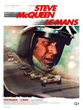 Le Mans  **POSTER** Steve McQueen FRENCH Racing Ferrari 512  Porsche 911 908 917