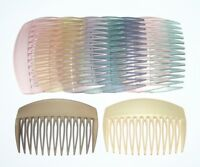Women's French Hair Side Comb Matte Pastel Plain Color Vintage Made in France