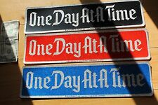 ONE DAY AT A TIME - AA NA Sober 12-step Huge 6x14in.  Bumper Sticker - Lot of 3