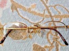 JP Gaultier Vintage Gold semi-rimless Eyeglasses Japan Elegant Simple