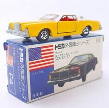Tomica Tomy Japan 1:77 USA FORD CONTINENTAL Mark IV Yellow/White Car F4 MIB`76