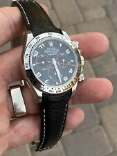 20mm BLACK Calfskin leather curved (fitted) Band Strap Rolex SUBMARINER GMT