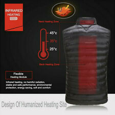 Electric Battery Heated Jacket USB Sleeveless Vest Winter Outdoor Body Warmer
