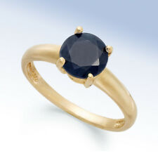 MACYS Gold-Plated Sterling Silver Midnite Sapphire September Birthstone RING - 7