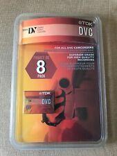 TDK DVC MiniDV Tapes, 60 Minute 8-Pack New - Free Shipping