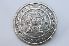 Rare Mexican 925 Aztec Style Silver Brooch / Pendant