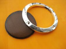 """2pcs 3""""inch Silver speaker grille decorative ring Home Audio protective cover"""