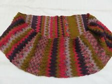 EAST FAB CHUNKY KNIT PURPLE PINK OCHRE ZIG ZAG PERPETUAL LOOP WINTER SCARF SNOOD