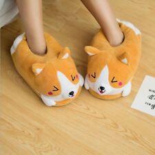 Lovely Home Indoor Warm Plush Dog Corgi Slipper Ankle Boot Muco Doge Floor Shoes