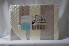 Martha Stewart Collection SIENA STRIPE Twin Quilt Ivory, Taupe