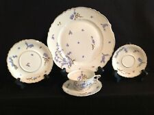 Haviland Limoges Montmery (Forget Me Nots) Set of Five (5) Imperfect Pieces