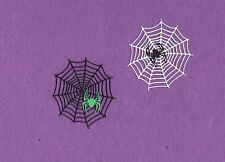 WEB WITH SPIDER  halloween die cuts scrapbook cards