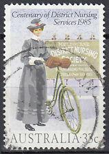 Australien gestempelt 33c Krankenschwester Arzt Medizin Fahrrad Vollstempel/1632