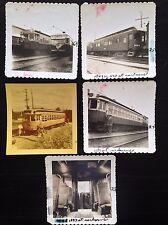 Vintage Trolley Car Railway Lot of 5 B&W, Kodacolor Photographs 1953 Carbarns