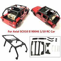 Para Axial SCX10 II 90046 1/10 RC Crawler Jeep Wrangler Cuerpo Shell Jaula Set