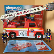Playmobil Boxed Firetruck 5682, Fireman, Ladder,Hose.in Good Condition.