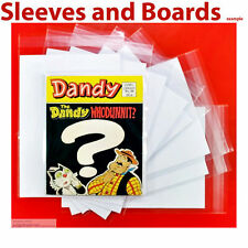 Dandy Comic Book Comic Library Comic Bags and Backing Sheets Size1 x 50 .